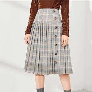 Shein plaid skirt